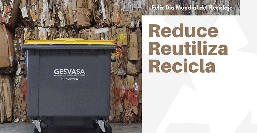 Imagen día mundial del Reciclaje para portada Gesvasa