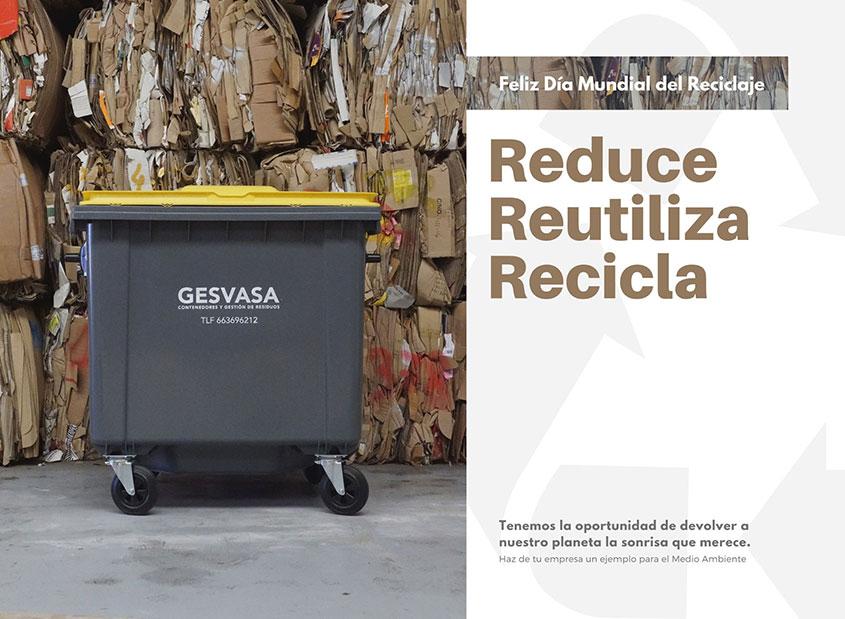 Imagen para el día mundial del Reciclaje Gesvasa