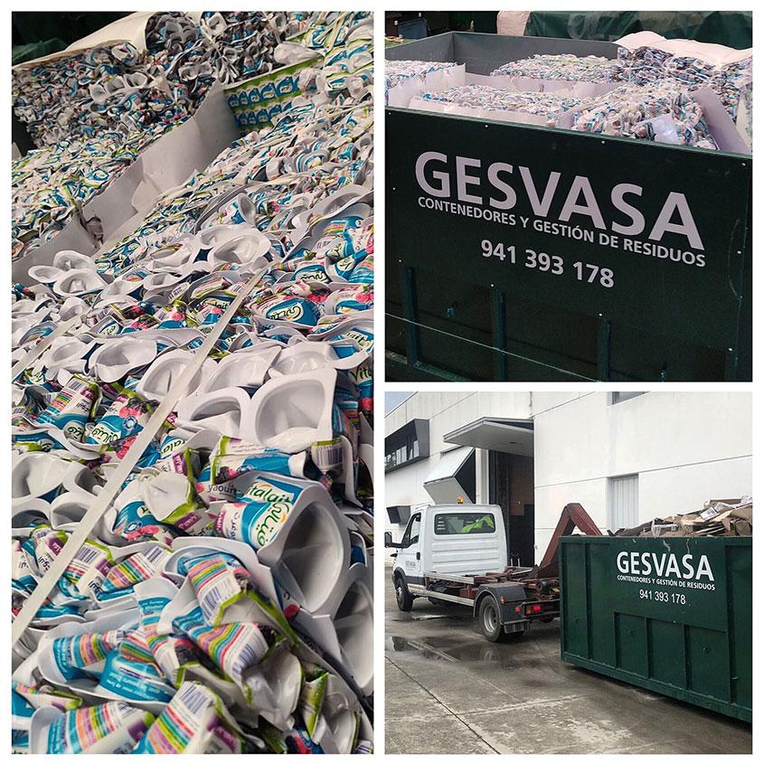 Gesvasa gestión de residuos en la Rioja foto envases para reciclar