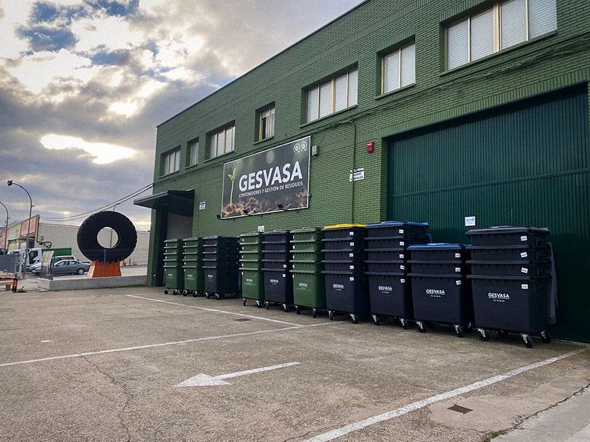 Nueva remesa de contenedores para residuos