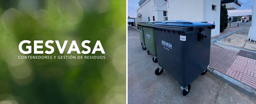 Foto contenedores en estación de servicio Repsol acuerdo con Gesvasa gestión de residuos